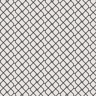 Abstract geometric lines seamless pattern background with black and white