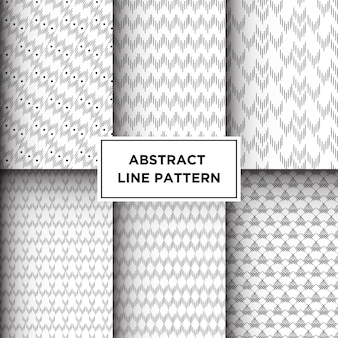 Abstract geometric lines seamless pattern
