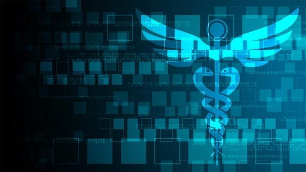 Abstract geometric medical cross shape medicine and science concept background medicine medical