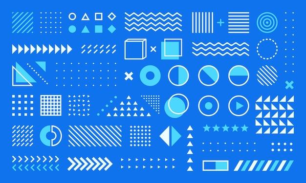 抽象的な幾何学的なメンフィスの形のデザイン要素