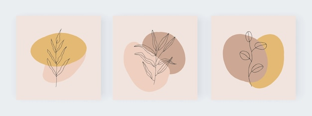 抽象的な幾何学的なミッドセンチュリースクエアバナー。印刷可能なウォールアート