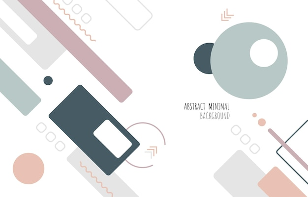 Abstract geometric minimal design of cover style soft color tone. decorating with copy space for texting design background. illustration vector