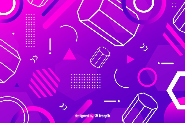 Abstract geometric models background