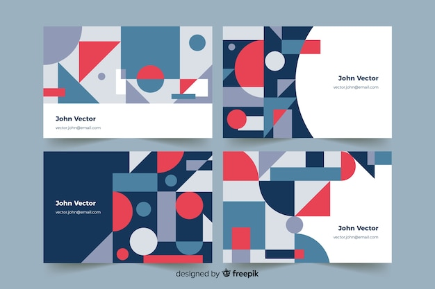 Abstract geometric models business card