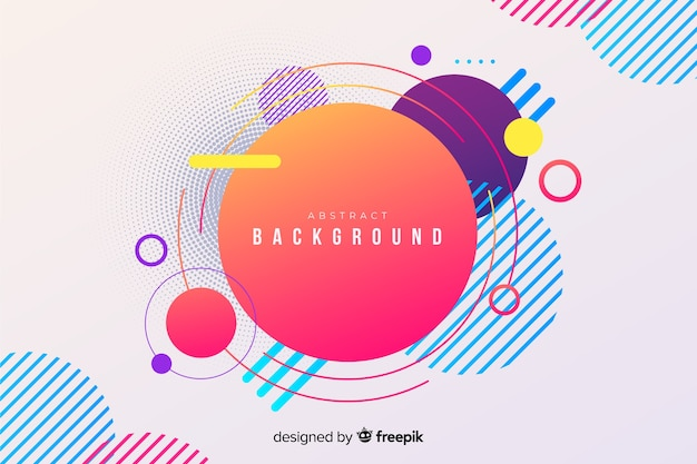 Abstract geometric modern circles background