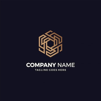 Abstract geometric modern and elegant luxury style design bussines logo design template
