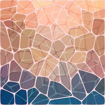 다채로운 추상적 인 기하학적 모자이크
