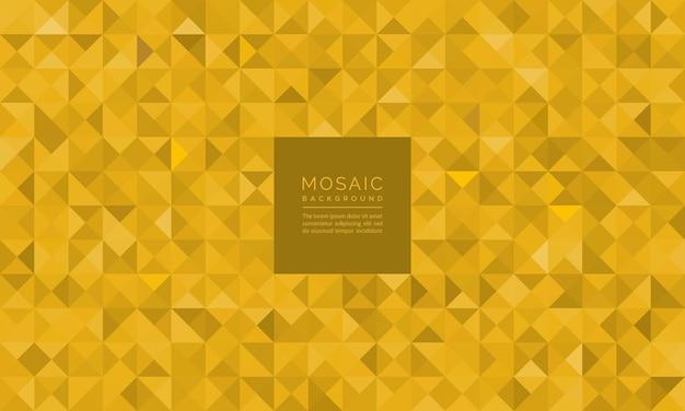 Abstract geometric mosaic glitter of gold pattern background