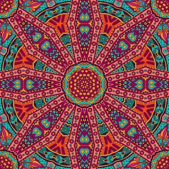 Абстрактная геометрическая мозаика старинные этнические бесшовные орнамент