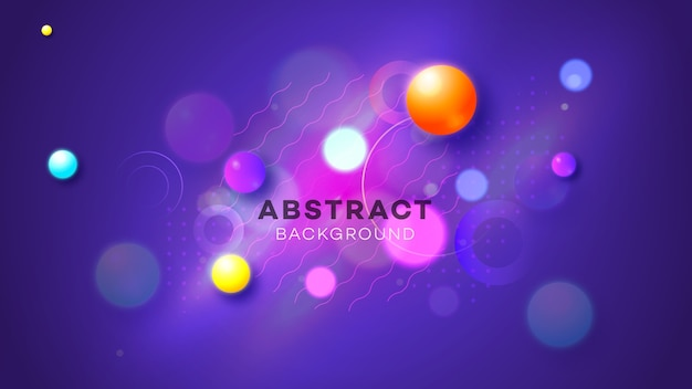 抽象的な幾何学的なネオンの輝きのイラスト。
