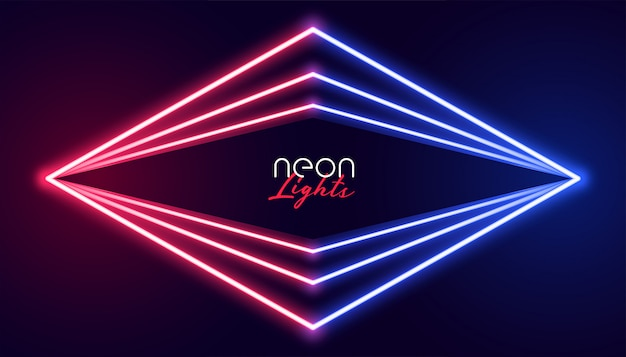 Abstract geometric neon lights background
