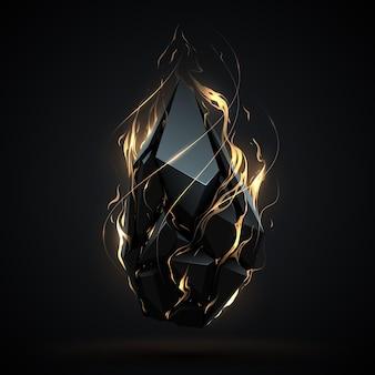 화재와 추상적 인 기하학적 개체