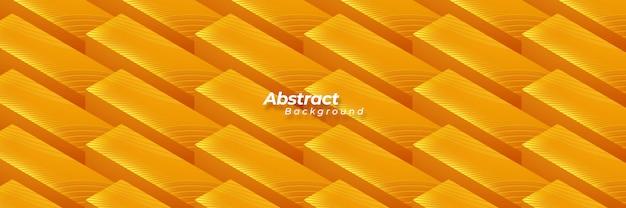 Abstract geometric orange background. Premium Vector