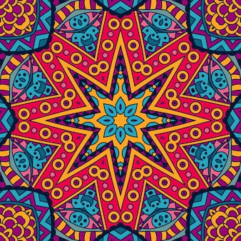 Абстрактные геометрические восточные старинные этнические бесшовные орнамент