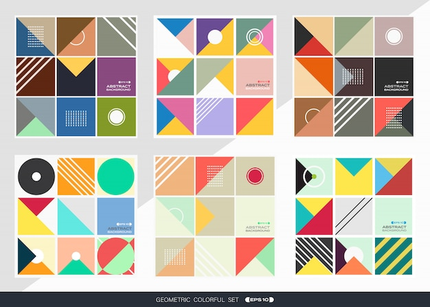 Abstract of geometric pattern background set in square shape.