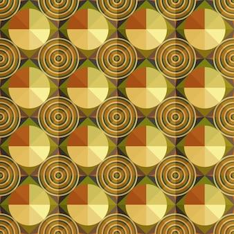 丸いパターンの抽象的な幾何学模様の背景。