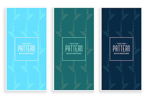 Abstract geometric pattern banner set