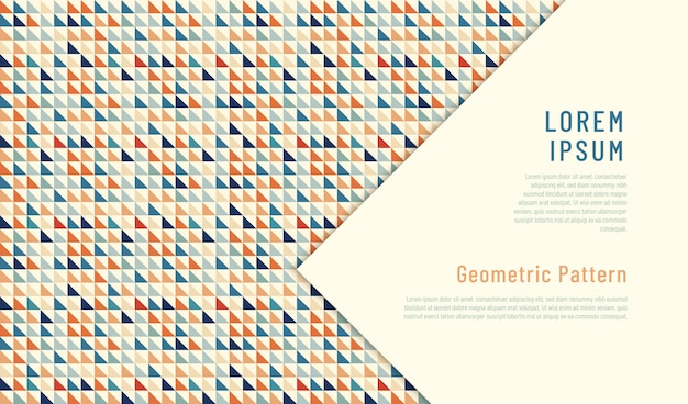 Abstract geometric pattern design made of triangles.