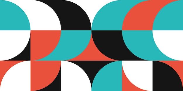 Абстрактный геометрический узор вектор дизайн. фон в стиле баухаус ..