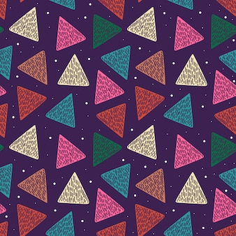 Abstract geometric pattern with hand drawn triangle