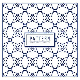 Abstract geometric pattern with lines, seamless vector background. blue texture