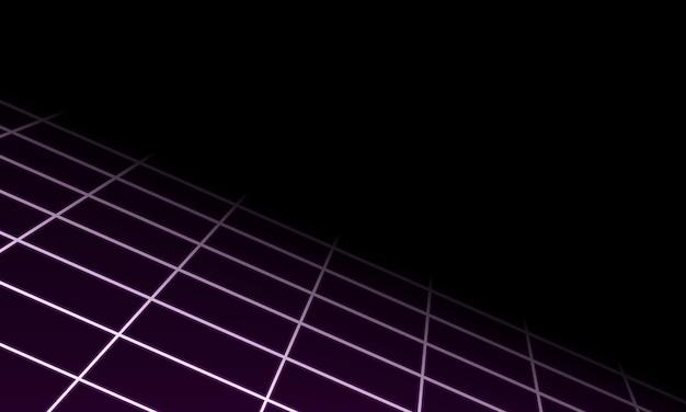 抽象的な幾何学的な視点紫色のグリッド線の背景ベクトル図