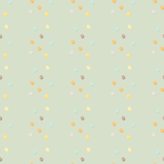 Abstract geometric polka dot seamless pattern. yellow, blue, orange, lilac dots on light blue background. decorative backdrop for fabric , textile print, wrapping, cover.  illustration.