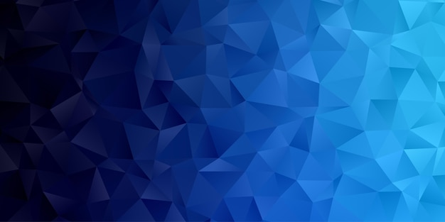 Abstract geometric polygon background wallpaper. header cover with triangle shape low polly blue