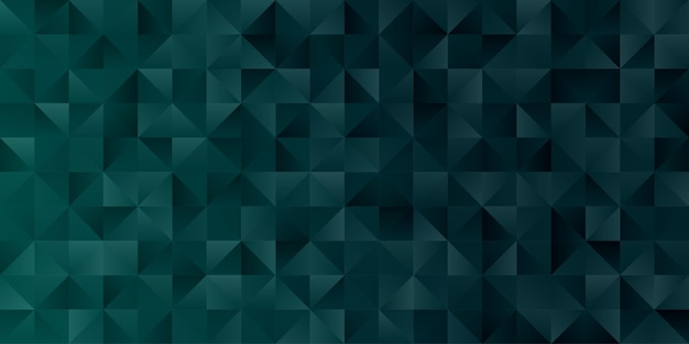 Abstract geometric polygon background wallpaper. header cover with triangle shape low polly emerald green