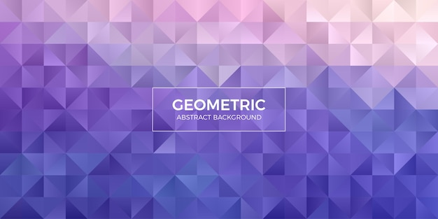 Абстрактные геометрические обои фона многоугольника. крышка заголовка треугольной формы low polly