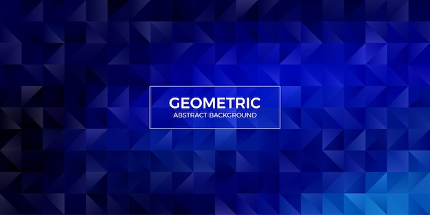 추상적 인 기하학적 다각형 배경 벽지입니다. 삼각형 모양의 낮은 폴리 헤더 커버