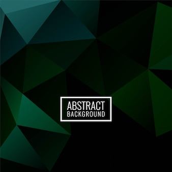 Abstract geometric polygon dark green background