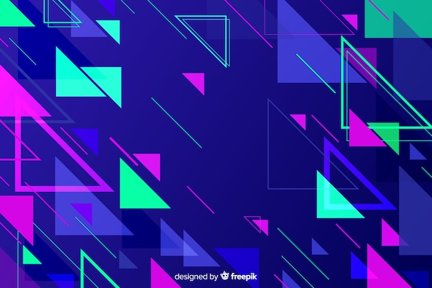 Abstract geometric polygonal shapes background