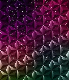 Abstract geometric polygonal shiny background