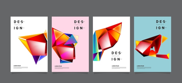 Abstract geometric poster design template