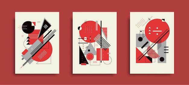 Набор абстрактных геометрических плакатов