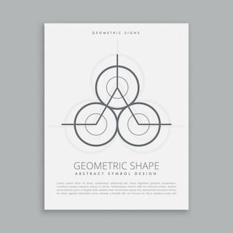 Абстрактный геометрический постер