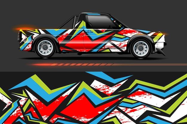 Абстрактный геометрический гоночный фон для виниловой пленки и наклейки