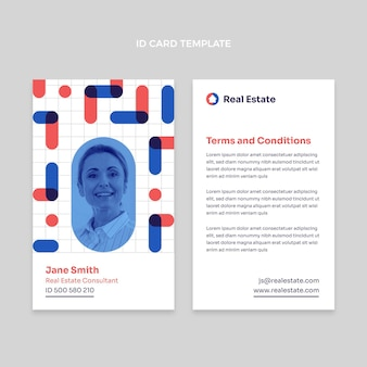 Abstract geometric real estate id card