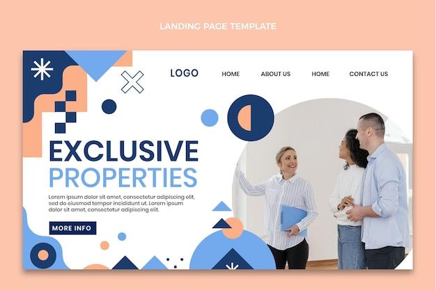 Pagina di destinazione immobiliare geometrica astratta