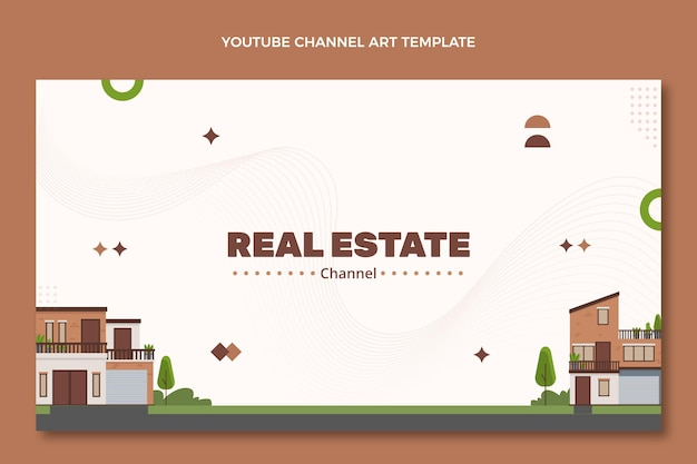 Abstract geometric real estate youtube channel