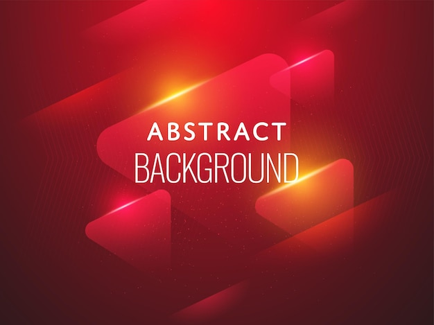 Abstract geometric red background with light effect.