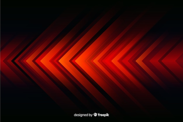 Abstract geometric red lights background