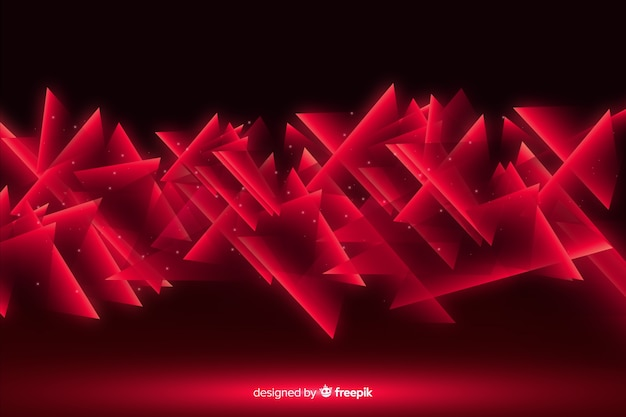 Abstract geometric red lights