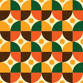 抽象的な幾何学的なレトロ パターン