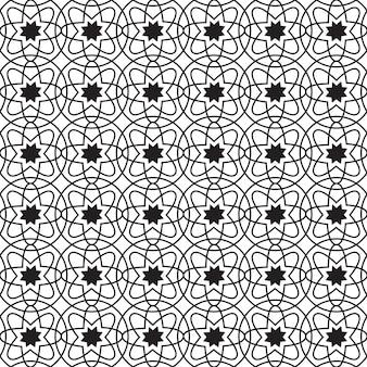 繰り返し構造の円とシンプルな花と抽象的な幾何学的なシームレスパターン