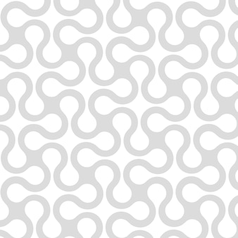 Abstract geometric seamless pattern with curved stripes, lines