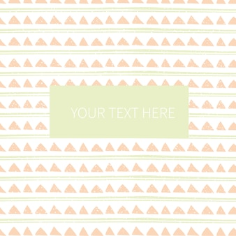 Abstract geometric seamless pattern with label
