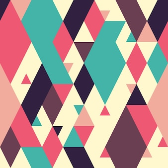 Abstract geometric seamless pattern with rhombuses.