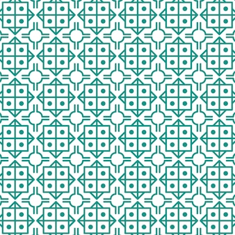 Abstract geometric seamless pattern with squares and circles.